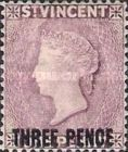 [Queen Victoria - New Colour & Surcharged
