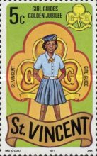 [The 50th Anniversary of Girl Guides in St. Vincent, type JS]