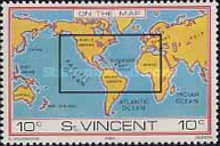 [St. Vincent on Various Geographic Maps, type MZ]