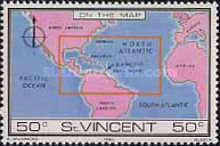 [St. Vincent on Various Geographic Maps, type NA]