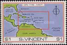[St. Vincent on Various Geographic Maps, type NB]