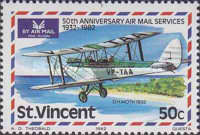 [The 50th Anniversary of Airmail Service, type OO]