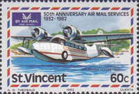 [The 50th Anniversary of Airmail Service, type OP]