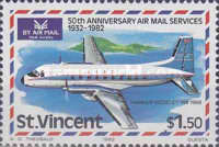 [The 50th Anniversary of Airmail Service, type OQ]