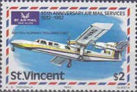[The 50th Anniversary of Airmail Service, type OR]