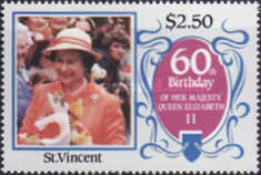 [The 60th Anniversary of the Birth of Queen Elizabeth II, type YU]