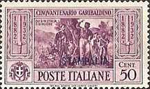 """[Italian Occupation- Italian Postage Stamps No. 360-369 Overprinted """"STAMPALIA"""", tyyppi M1]"""