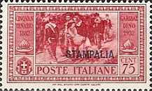 """[Italian Occupation- Italian Postage Stamps No. 360-369 Overprinted """"STAMPALIA"""", tyyppi N]"""