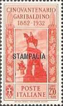 """[Italian Occupation- Italian Postage Stamps No. 360-369 Overprinted """"STAMPALIA"""", tyyppi Q]"""