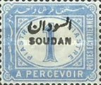 [Numeral Stamps - Egypt Postage Due Stamp of 1889 Overprinted