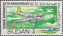 [The 20th Anniversary of the Airline Sudan Airways, type CQ]
