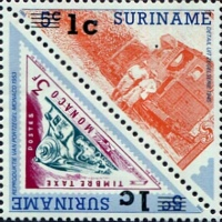 [Railway Locomotives Issue of 1985 Surcharged, Typ ]