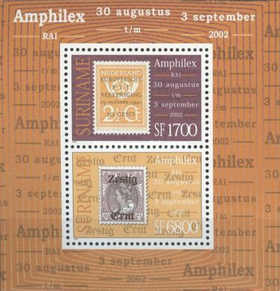 [International Stamp Exhibition AMPHILEX 2002 - Amsterdam, Netherlands. Different Background Colours, Typ ]
