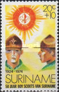[The 50th Anniversary of Scouting in Surinam, Typ AFD]
