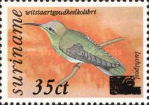 [Birds Issue of 1977 Surcharged, Typ AIF1]