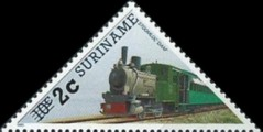 [Railway Locomotives Stamps of 1985 Surcharged, type AWG1]
