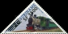 [Railway Locomotives Stamps of 1985 Surcharged, Typ AWG2]