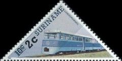 [Railway Locomotives Stamps of 1985 Surcharged, type AWH1]