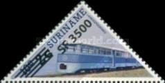 [Railway Locomotives Stamps of 1985 Surcharged, Typ AWH2]