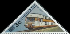 [Railway Locomotives Stamps of 1985 Surcharged, type AWN1]