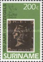 [The 150th Anniversary of the First Postage Stamp, Typ BDM]