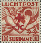 [Airmail - Red Cross. Stamp of 1941 Surcharged, type BJ]
