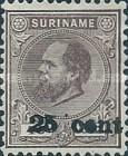 [Stamps of 1875 & 1889 Surcharged, type I]