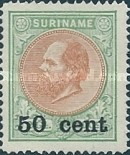 [Stamps of 1875 & 1889 Surcharged, type I3]