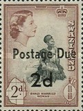 [Queen Elizabeth II & Local Motifs - Swaziland Postage Stamps of 1956 Surcharged, type B]