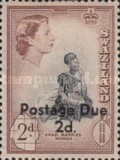 [Queen Elizabeth II & Local Motifs - Swaziland Postage Stamps of 1956 Surcharged, type B1]