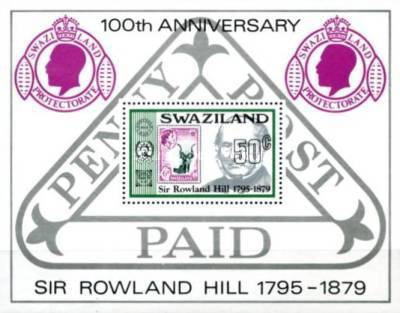 [The 100th Anniversary of the Death of Sir Rowland Hill, type ]