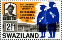 [First Ceremony of an Academic Degree by the University in Botswana, Lesotho, and Swaziland, type BH]