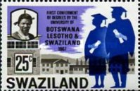 [First Ceremony of an Academic Degree by the University in Botswana, Lesotho, and Swaziland, type BH3]