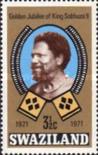 [The 50th Anniversary of Accession of King Sobhuza II, type CO]