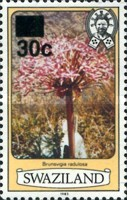 [Flowers - Previous Issues Surcharged, type IB1]