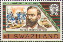 [The 150th Anniversary of the Birth of Alfred Nobel, 1833-1896, type LY]