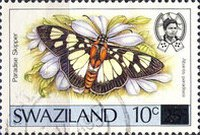 [Butterflies - Stamps of 1987 Surcharged, type OS1]