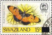 [Butterflies - Stamps of 1987 Surcharged, type OT1]