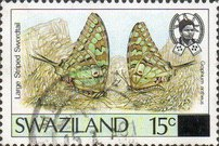 [Butterflies - Stamps of 1987 Surcharged, type OV1]