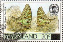[Butterflies - Stamps of 1987 Surcharged, type OV2]