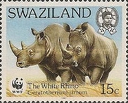 [Worldwide Nature Protection - White Rhinoceros, type PC]