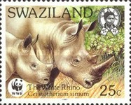 [Worldwide Nature Protection - White Rhinoceros, type PD]