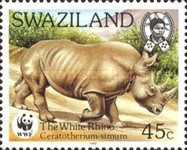 [Worldwide Nature Protection - White Rhinoceros, type PE]