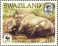 [Worldwide Nature Protection - White Rhinoceros, type PF]