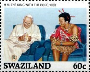 [The 21st Anniversary of the Birth of King Mswati III, type QB]