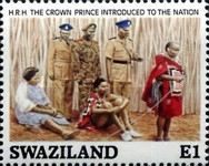 [The 21st Anniversary of the Birth of King Mswati III, type QC]