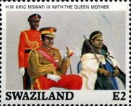 [The 21st Anniversary of the Birth of King Mswati III, type QD]