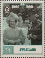 [The 90th Anniversary of the Birth of Queen Elizabeth the Queen Mother, 1900-2002, type QO]