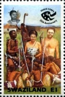 [The 25th Anniversary of U.S. Peace Corps in Swaziland, type SK]