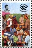 [The 25th Anniversary of U.S. Peace Corps in Swaziland, type SL]